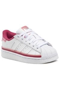 Adidas - Buty adidas - Superstar C FX5902 Ftwwht/Ftwwht/Hazros. Kolor: biały. Materiał: skóra ekologiczna, skóra. Szerokość cholewki: normalna