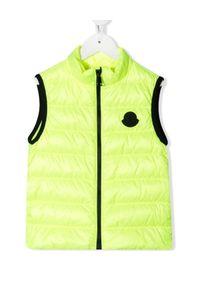 MONCLER KIDS - Neonowa kamizelka Artemas 4-10 lat. Kolor: żółty. Materiał: materiał, puch. Wzór: aplikacja. Sezon: lato #1
