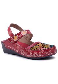 Czerwone sandały Laura Vita