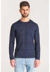 Niebieski sweter Joop! Collection z aplikacjami