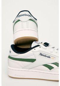 Szare sneakersy Reebok Classic z okrągłym noskiem, z cholewką, na sznurówki