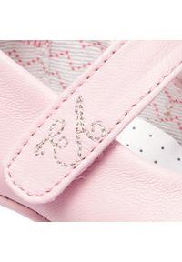 Emporio Armani - Półbuty EMPORIO ARMANI - XKD002 XON02 00550 Light Pink. Okazja: na spacer. Zapięcie: rzepy. Kolor: różowy. Materiał: skóra. Szerokość cholewki: normalna