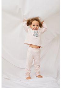 Różowa piżama Mango Kids z nadrukiem
