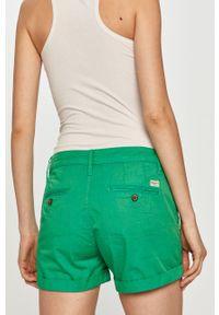 Zielone szorty Pepe Jeans casualowe, gładkie, na co dzień