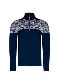 Niebieski sweter Newland z golfem