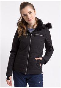 Czarna kurtka narciarska 4f na zimę, Dermizax, ze stójką
