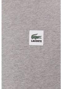 Lacoste - Bluza bawełniana. Okazja: na co dzień. Kolor: szary. Materiał: bawełna. Wzór: gładki. Styl: casual
