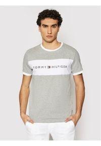 TOMMY HILFIGER - Tommy Hilfiger T-Shirt Logo Flag UM0UM01170 Szary Regular Fit. Kolor: szary