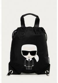 Karl Lagerfeld - Plecak. Kolor: czarny. Wzór: aplikacja