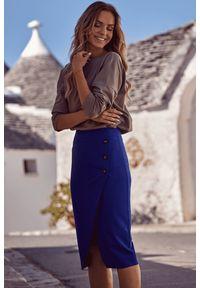 Spódnica ołówkowa MOE z aplikacjami, elegancka