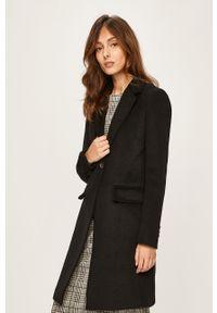 Czarny płaszcz ANSWEAR bez kaptura, klasyczny