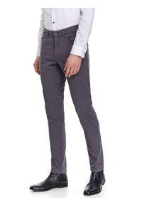 Szare spodnie TOP SECRET eleganckie, na wiosnę