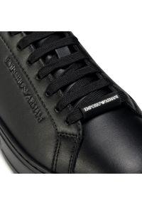 Czarne sneakersy Emporio Armani z cholewką, na co dzień