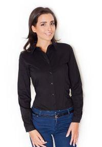 Katrus - Czarne Eleganckie Body z Długim Rękawem. Kolor: czarny. Materiał: elastan, bawełna, poliester. Długość rękawa: długi rękaw. Długość: długie. Styl: elegancki