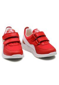 Pablosky - Sneakersy PABLOSKY - 285660 S Torello Red Kiss. Okazja: na co dzień. Zapięcie: rzepy. Kolor: czerwony. Materiał: materiał, skóra. Styl: casual