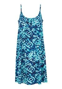 Cellbes Sukienka plażowa w niebieskie wzory niebieski we wzory female niebieski/ze wzorem 34/36. Kolor: niebieski. Materiał: jersey, bawełna