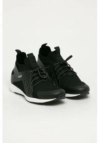 Czarne sneakersy Hugo na sznurówki, z cholewką