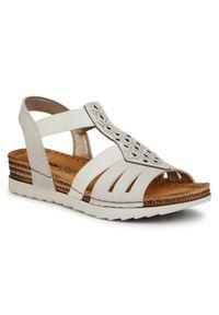 Beżowe sandały Inblu casualowe, z aplikacjami, na co dzień