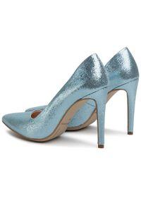 Niebieskie szpilki Baldaccini z cholewką, eleganckie