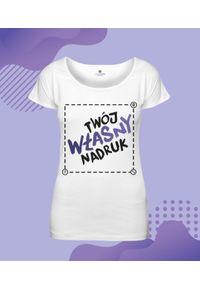 MegaKoszulki - Koszulka damska oversize z własnym nadrukiem. Wzór: nadruk