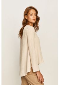 Beżowa bluzka Stefanel długa, z długim rękawem
