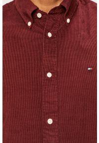Brązowa koszula TOMMY HILFIGER button down, casualowa, długa, na co dzień