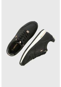 MEXX - Mexx - Buty Sneaker Eke. Nosek buta: okrągły. Zapięcie: sznurówki. Kolor: czarny. Materiał: skóra, guma
