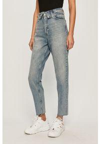 Niebieskie jeansy Calvin Klein Jeans z podwyższonym stanem