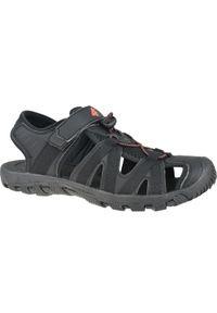 Czarne sandały 4f w kolorowe wzory, sportowe