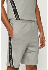 Miętowe szorty Calvin Klein Performance z nadrukiem, na co dzień, casualowe