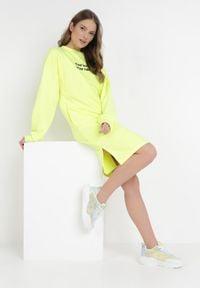Born2be - Żółta Bluza Petoriko. Kolor: żółty