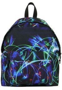 Czarny plecak Derform w abstrakcyjne wzory, młodzieżowy