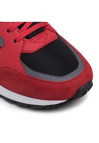 Czerwone sneakersy Hugo na co dzień, z cholewką