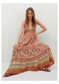 mango - Mango Sukienka letnia Saffron 17060173 Pomarańczowy Relaxed Fit. Kolor: pomarańczowy. Sezon: lato