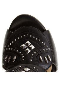 Czarne sandały Bronx z aplikacjami, na co dzień