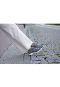 Szare półbuty Zapato eleganckie, na sznurówki, na lato, z okrągłym noskiem