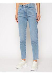 Niebieskie jeansy slim Lacoste