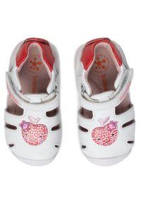 Białe sandały Biomecanics z aplikacjami, na lato