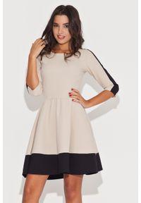 Sukienka Katrus w kolorowe wzory, elegancka