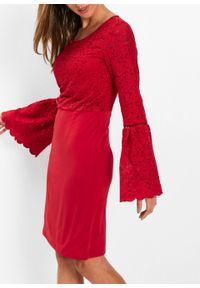 Czerwona sukienka bonprix elegancka