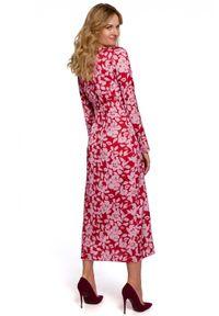 Sukienka casualowa, kopertowa, midi