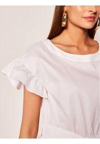 Biała sukienka TwinSet casualowa, prosta, na co dzień
