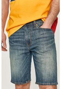 Levi's® - Levi's - Szorty jeansowe. Okazja: na co dzień, na spotkanie biznesowe. Typ kołnierza: bez kaptura. Kolor: niebieski. Materiał: materiał, bawełna, denim, akryl, poliester, jeans, wiskoza. Styl: biznesowy, casual