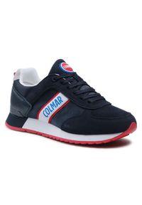 Colmar - Sneakersy COLMAR - Travis Runner 031 Navy. Okazja: na co dzień. Kolor: niebieski. Materiał: zamsz, materiał, skóra ekologiczna. Szerokość cholewki: normalna. Styl: casual #1