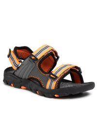 Szare sandały 4f klasyczne, na lato