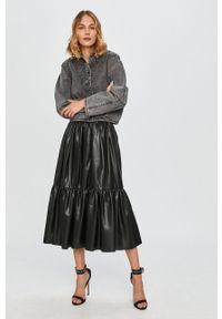 Czarna kurtka Miss Sixty bez kaptura, raglanowy rękaw