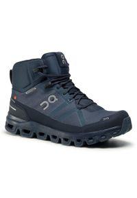 Niebieskie buty trekkingowe On z cholewką