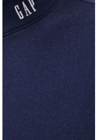 GAP - Bluza bawełniana. Okazja: na co dzień. Kolor: niebieski. Materiał: bawełna. Wzór: gładki. Styl: casual