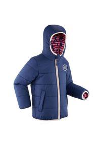 WEDZE - Kurtka narciarska dla dzieci Wedze Warm Reverse 100. Kolor: niebieski, różowy, wielokolorowy. Materiał: materiał. Sport: narciarstwo
