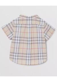 BURBERRY CHILDREN - Koszula w kratę 0-2 lat. Typ kołnierza: kołnierzyk klasyczny. Kolor: brązowy. Materiał: bawełna. Sezon: lato. Styl: klasyczny, elegancki